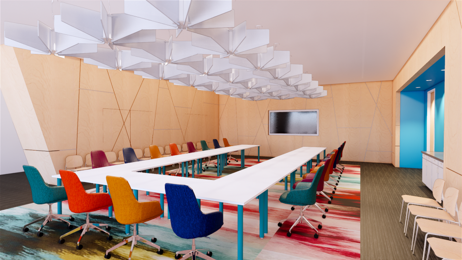 A rendering of the Richland Library Board Room
